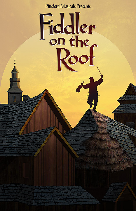Delightful Fiddler On The Roof Promotional Poster By David Occhino Design