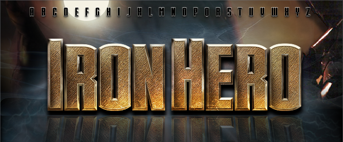 Iron Font Photoshop Iron Man Font Iron Hero Font