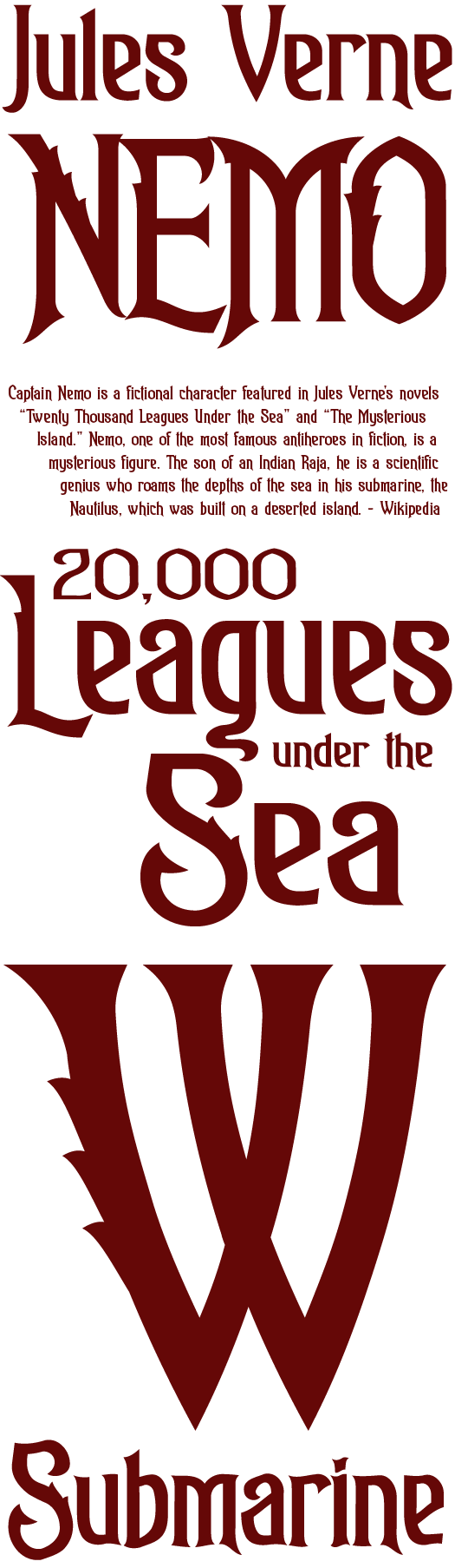 Nautical Font Styles Nautilus font