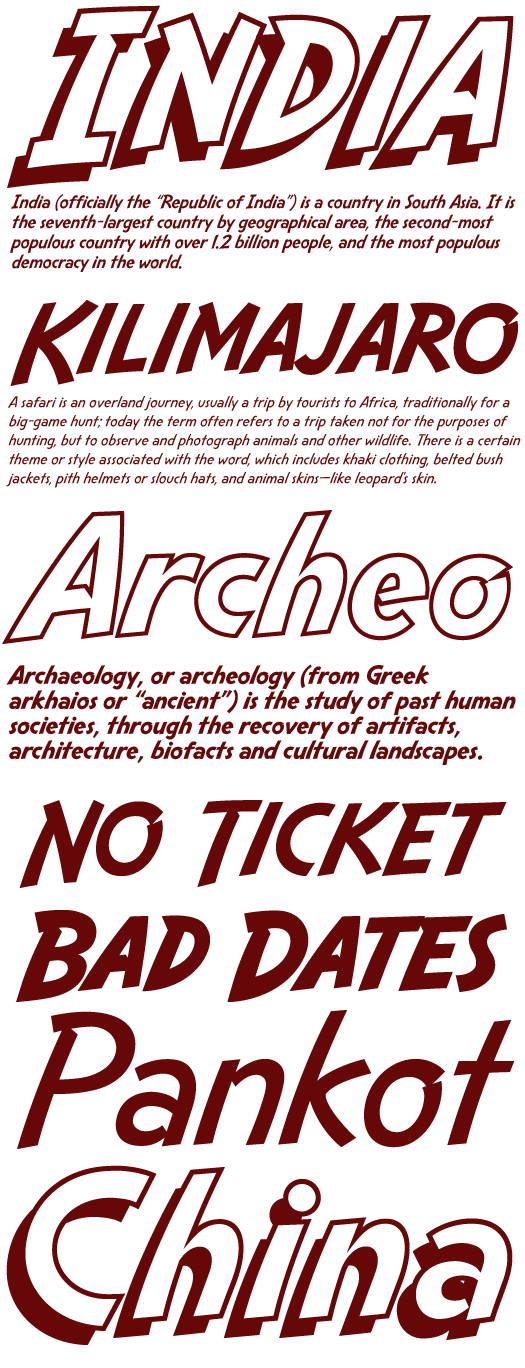 Indiana Jones Font Information and Type Samples - Page 1