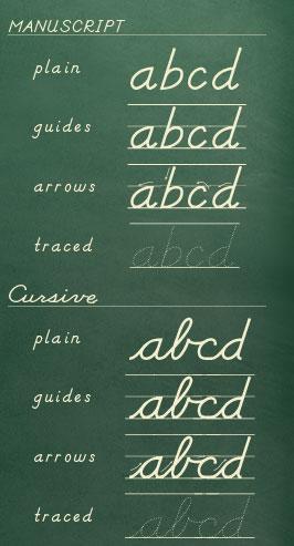cursive letters a z font handwriting font cursive font school