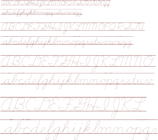 School Font Information and Type Samples
